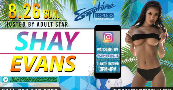Shay Evans Featuring at Sapphire Las Vegas