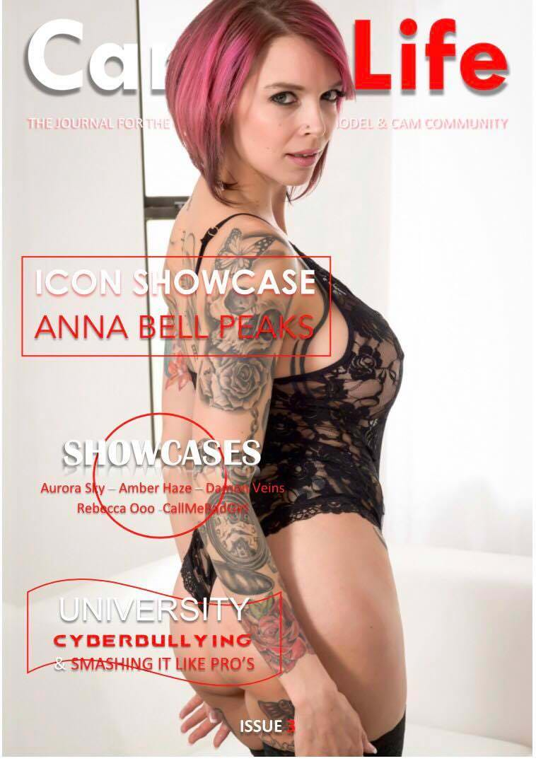 Anna Bell Peaks Nabs the Cover of Cam Life Magazine & More!