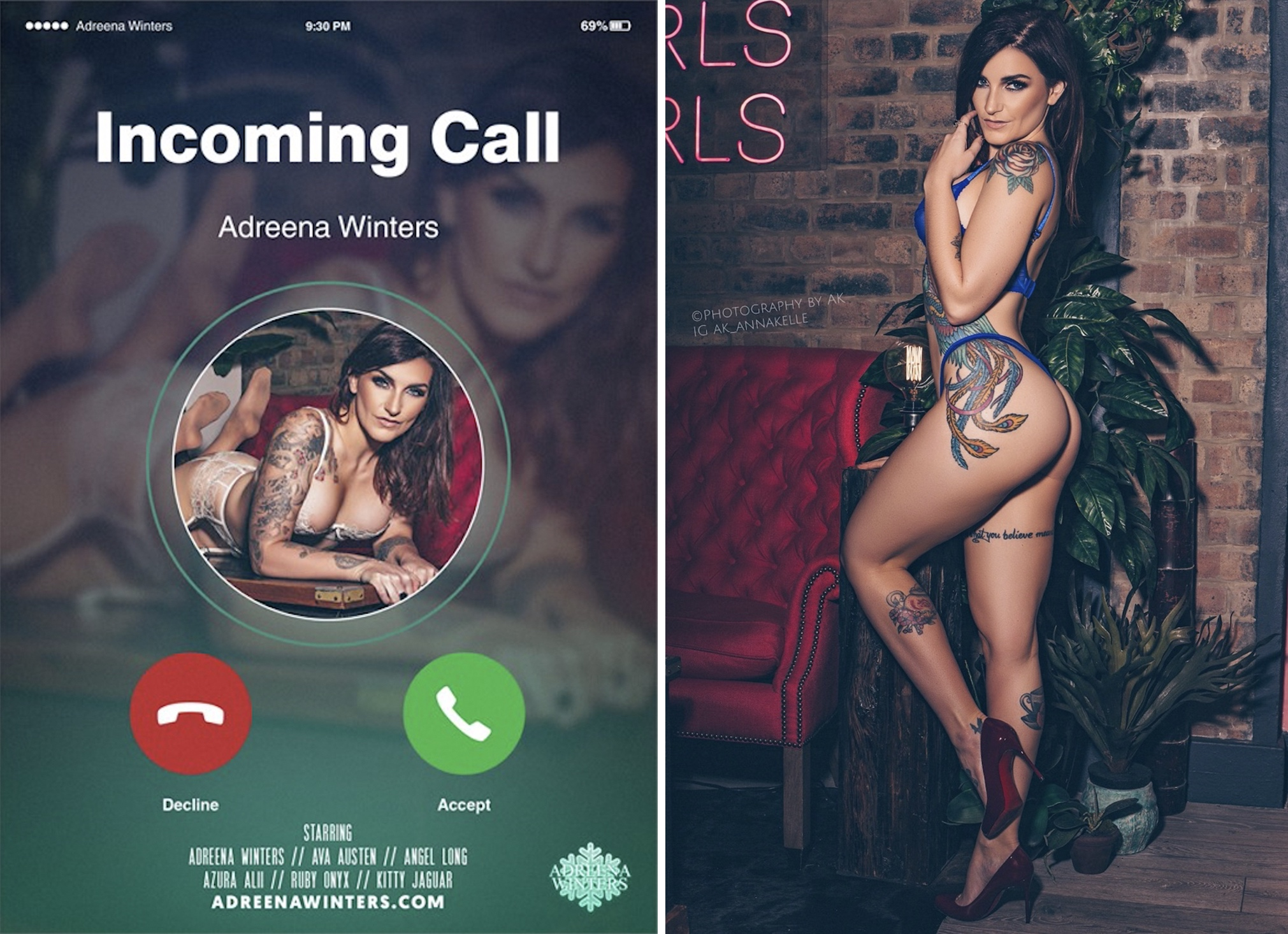 You Have an Incoming Call—It's Adreena Winters & Her Girlfriends